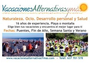 Logo y cabecera de Vacaciones Alternativas y Más